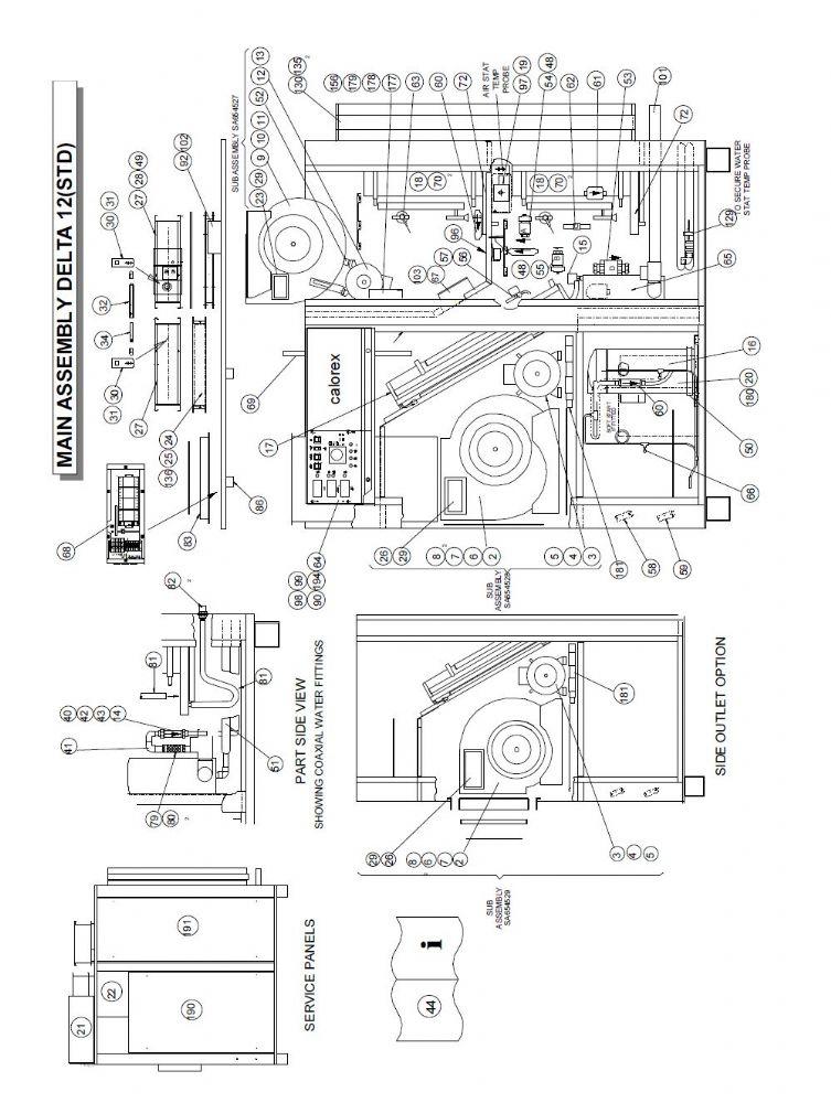 Calorex Heat Pump Spare Part 260351 rh Sensor For Delta DT-B